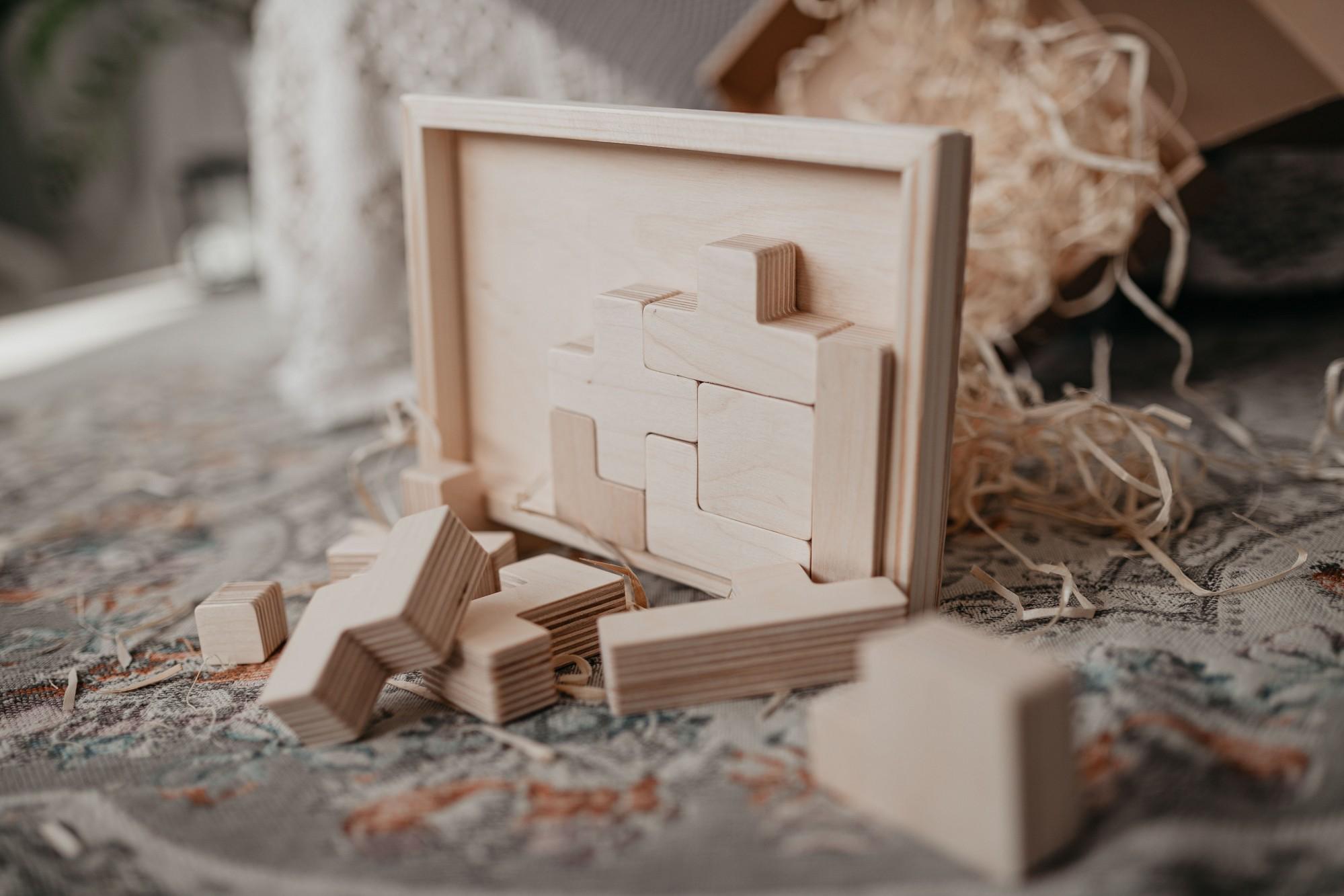 Építőjáték fából